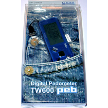 Citizen TW600 podometro digital azul.